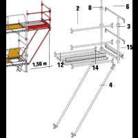 Déport 1,50 m pour echafaufage ALTRAD AERIS 45 - ADEP150