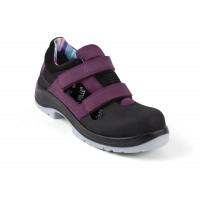 Chaussures de sécurité aérées femmes Air Open Lady Aubergine S1P SRC ESD GASTON MILLE -AFJA1