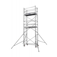 Echafaudages roulants DUARIB Aluminium ALTITUDE ALU 200 HAUTEUR PLANCHER 6.90 m/PLANCHER ALU/BOIS PLINTHES INTEGREES-500817