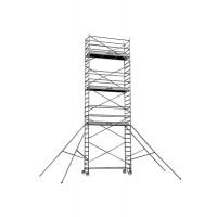 Echafaudages roulants DUARIB Aluminium ALTITUDE ALU 250 HAUTEUR PLANCHER 5.90 m/PLANCHER ALU/BOIS PLINTHES INTEGREES- 500826