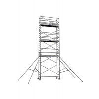 Echafaudages roulants DUARIB Aluminium ALTITUDE ALU 250 HAUTEUR PLANCHER 3.90 m/PLANCHER ALU/BOIS PLINTHES INTEGREES- 500824