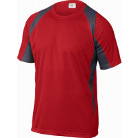 TEE-SHIRT 100% POLYESTER Rouge / Gris DELTA PLUS-BALIRG0