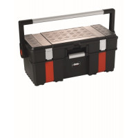 Boîte à outils en PVC avec organiseur SAM OUTILLAGE-BAOPRO-2Z