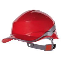 DELTA PLUS-CASQUE DE CHANTIER FORME CASQUETTE BASEBALL-DIAM5ROFL-Rouge