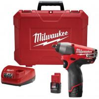 MILWAUKEE- M12 CIW38 202C Boulonneuse à choc Milwaukee FUEL 12V Li-Ion 2,0Ah ( livré avec 2 batteries + 1 chargeur + 1 coffret) -  4933440420