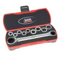Coffret clés à cliquet 12 pièces SAM OUTILLAGE - CP12Z