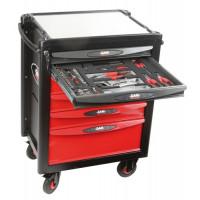 Composition 200 outils avec servante 6 tiroirs en modules mousse SAM OUTILLAGE-CPP-200MZ