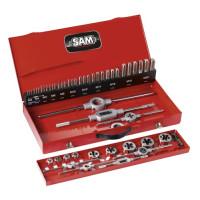 Composition d'outils à tarauder et à fileter SAM OUTILLAGE-CTF45Z