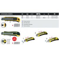 Cutter en ABS + élastique recharge autom 18mm - 8 lames - MEDID - 908