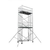 Echafaudages roulants DUARIB Aluminium DOCKER2 150 - LONGUEUR 2.54 m HAUTEUR PLANCHER 6.9 m -GC LISSES/SOUS LISSES- 254407