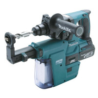 Perfo-burineur SDS-Plus MAKITA 18 V Li-Ion 5 Ah 24 mm + extracteur de poussiere en coffret MAK-PAC- DHR243RTJV