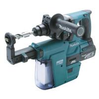Perfo-burineur SDS-Plus MAKITA 18 V Li-Ion 5 Ah 24 mm + extracteur de poussiere en coffret MAK-PAC- DHR243RTJV