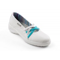Ballerine / Chaussure de travail 'lady' gamme Flowergrip Daphné Blanc O2 SRC GASTON MILLE -DAAB9