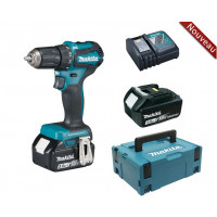 Perceuse visseuse 18 V Li-Ion 3 Ah Ø 13 mm  + 2 batteries + chargeur + coffret MAKPAC MAKITA - DDF483RFJ