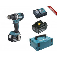 Perceuse visseuse 18 V Li-Ion 5 Ah Ø 13 mm + 2 batteries + chargeur + coffret MAKPAC MAKITA -DDF484RTJ