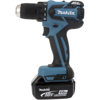 Perceuse visseuse MAKITA 18 V Li-Ion 4 Ah Ø 13 mm + 2 BatterieS BL1840 + Coffret MAK PAC -DDF459RMJ