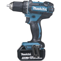 Perceuse visseuse 18 V Li-Ion 5 Ah Ø 13 mm  + 3 batteries + chargeur + coffret MAKPAC MAKITA -DDF482RT3J