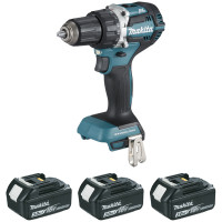 Perceuse visseuse MAKITA 18 V Li-Ion 3 Ah Ø 13 mm (3 batteries)-DDF484RF3J