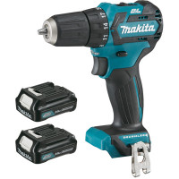 Perceuse visseuse MAKITA 10,8 V Li-Ion 2 Ah CXT COMPACT BRUSHLESS Ø 10 mm - DF332DSAJ
