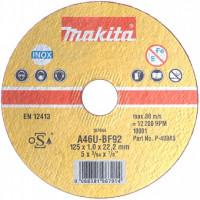 Disques à tronçonner métal et inox pour meuleuse Ø 125mm MAKITA - B64593