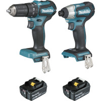Ensemble de 2 machines 18 V Li-Ion 5 Ah (DTD155 + DHP483) MAKITA - DLX2221TJ2