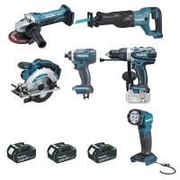 Ensemble de 6 machines MAKITA 18 V Li-Ion 4 Ah - DLX6104MX1