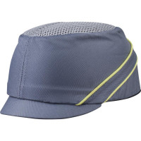 CASQUETTE ANTI-HEURT TYPE BASE-BALL AIR COLTAN GRISE VISIERE 3CM DELTA PLUS -COLTAAIGRMI