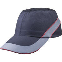 CASQUETTE ANTI-HEURT TYPE BASE-BALL AIR COLTAN NOIR/ROUGE VISIERE 7CM DELTA PLUS -COLTAAINOLG