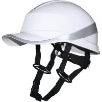 Casque de chantier DIAMOND V UP  Blanc Fluo forme casquette baseball serrage rotor DELTA PLUS - DIAMOND5UPBC
