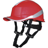 Casque de chantier DIAMOND V UP Rouge fluo  forme casquette baseball serrage rotor DELTA PLUS - DIAM5UPRO