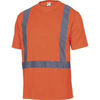 TEE-SHIRT FEEDER DELTA PLUS POLYESTER/COTON HAUTE VISIBILITÉ ORANGE FLUO- FEEDEOR0