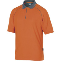 DELTA PLUS- POLO COTON GAMME LEISURE Orange -MSPOLOR0