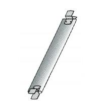 Plinthe d'extrémité acier galvanisé ALTRAD VITO 49 - J04878