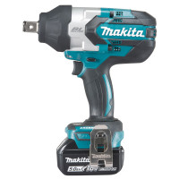 Boulonneuse à chocs MAKITA 18 V Li-Ion 5 Ah 1050 Nm -DTW1001RTJ