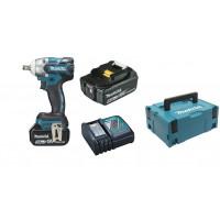 Boulonneuse à chocs 18 V Li-Ion 5 Ah 280 Nm MAKITA + 2 batteries + 1 chargeur + 1 coffret Mak Pac -DTW285RTJ