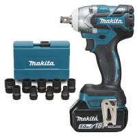 Boulonneuse à chocs MAKITA 18 V Li-Ion 5 Ah 280 Nm ( kit d'accessoires) - DTW285RTJX (Perceuse-visseuse)