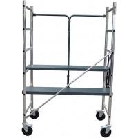 Echafaudage pliant aluminium CENTAURE hyper pratique ! Hauteur de travail jusqu'à 2,90m - 417801