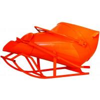 Benne à béton EICHINGER 3000 L couchée à fond ouvrant à vidage latéral-Mécanique avec volant-102518V