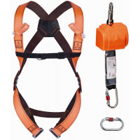 "DELTA PLUS- KIT ANTICHUTE ""VERTICAL & HORIZONTAL 2,50 M"": HAR12 + AN102 + AM002 + 1 SAC DE RANGEMENT - ELARA140GT"