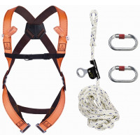 "KIT ANTICHUTE ""ROOF"": HAR12 + AN063/10 + AM002 + 1 SAC DE RANGEMENT DELTA PLUS- ELARA150"