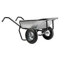 Brouette Haemmerlin Pro Select Expert Twin 160 L Galvanisée 2  roues gonflées -306225701