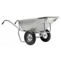 Brouette Haemmerlin Pro Select Expert Twin 230L Tout Galvanisée 2 Roues Gonflées -306455701