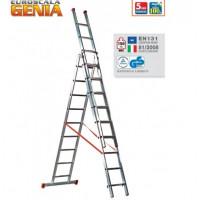 Echelle transformable FACAL PRO 3x8 haut. travail max. 6,9 m GENIA - G260-3