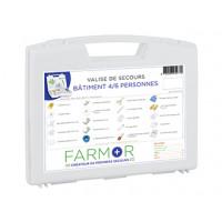 COFFRET DE SECOURS FARMOR BÂTIMENT 4/6 PERSONNES-FAR2077PP (Premiers secours)