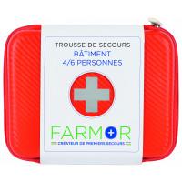 TROUSSE DE SECOURS EN PU ORANGE BATIMENT FARMOR - FAR3701FLO (Premiers secours)