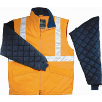DELTA PLUS- FREEWAY  GILET DE SIGNALISATION MANCHES AMOVIBLES ORANGE- FREEWOR0