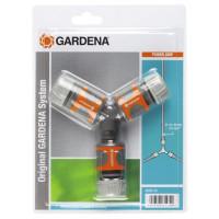 """Nécessaire de dérivation GARDENA en Y pour arrosage 13 mm (1/2"""") et 15 mm (5/8"""") - 1828720"""