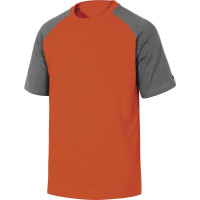 TEE-SHIRT 100% COTON GENOA DELTA PLUS Gris-Orange-GENOAGR0