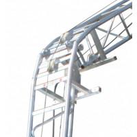 Genouillère 20-60° électrozinguée + verrou acier pour monte matériaux CASTOR STEEL HAEMMERLIN - 311502301