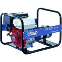 Groupe électrogène Portable Power HX 4000 3700 W équipé d'un moteur HONDA, d'un compteur horaire et kit différentiel SDMO - HX4000+R01